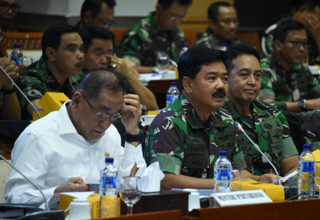Panglima TNI Rapat Kerja Dengan Komisi I DPR RI