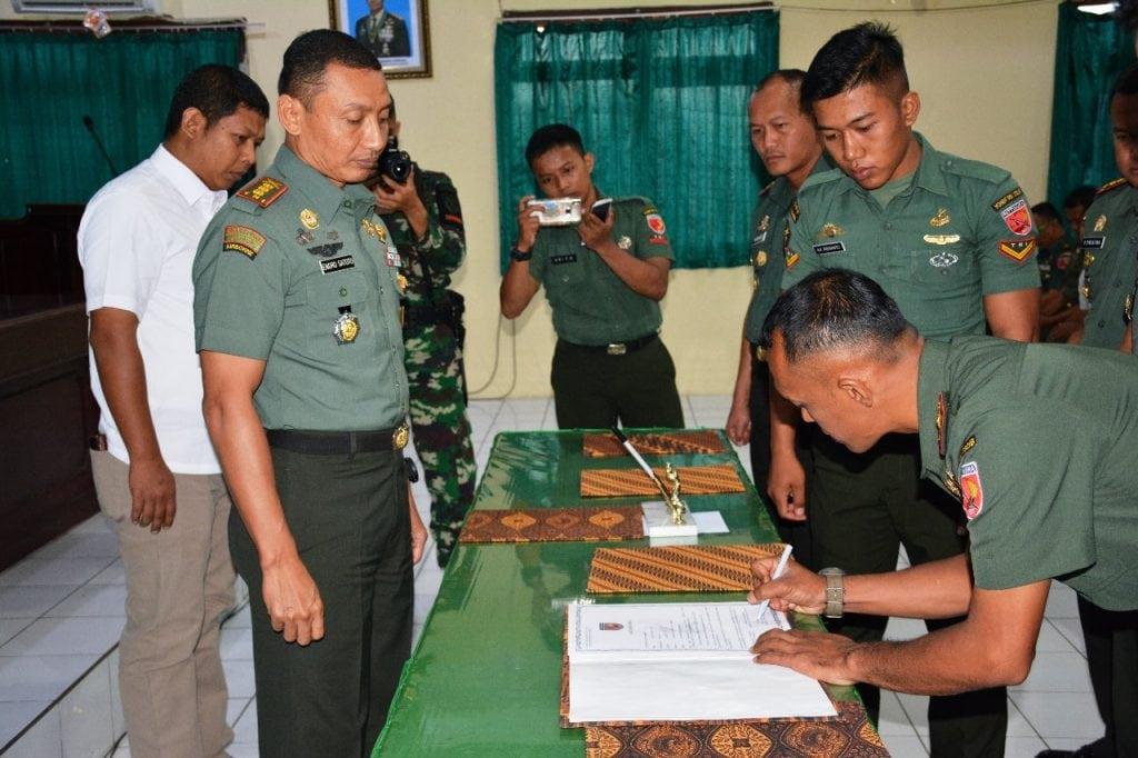 Korem 152/Babullah Canangkan Zona Integritas Bebas Korupsi