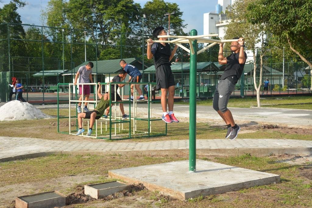 Sentra olahraga terpadu prajurit dan masyarakat di Korem 102/Pjg