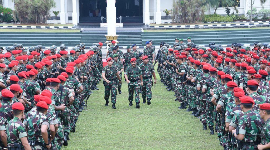 Panglima TNI Gelar Apel Khusus di Makopassus