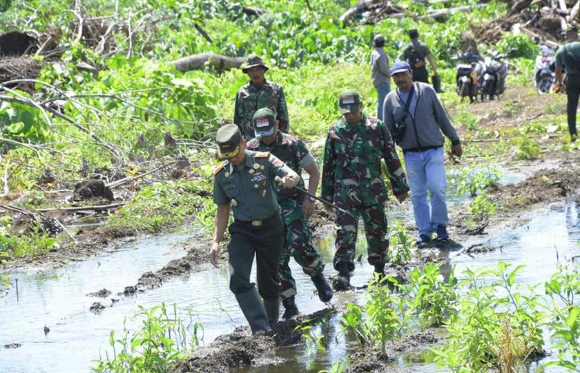 Danrem Tinjau Lokasi Cetak Sawah di Halmahera Tengah