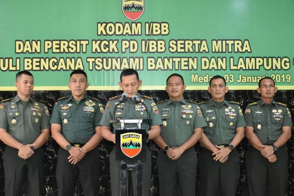 Kodam I/BB Salurkan Bantuan Rp 911 Juta untuk Korban Tsunami Wilayah Banten dan Lampung