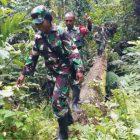 Danramil Wanita Pimpin Patroli Perbatasan RI-PNG
