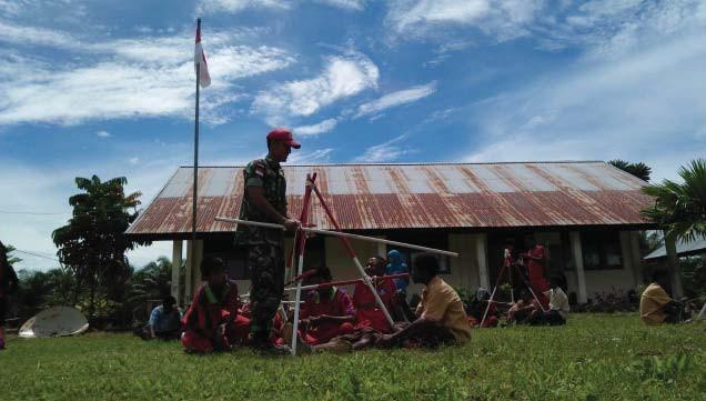 Satgas Kostrad, Bangun Karakter Generasi Muda di Perbatasan