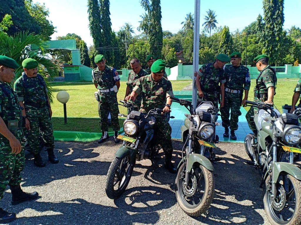 15 Unit Motor Dinas BRU Untuk Operasional Babinsa di Kodim Polmas