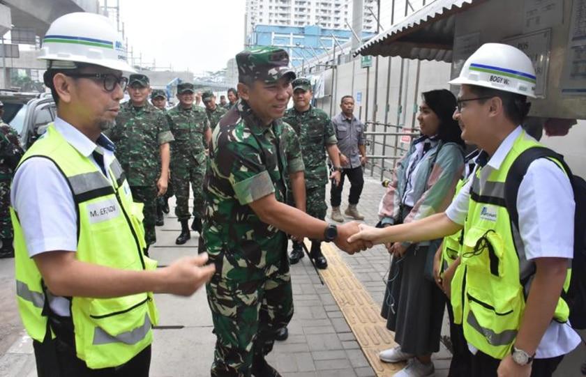 Tanggungjawab Keamanan Wilayah Ibu Kota, Pangdam Jaya Tinjau Pekerjaan MRT