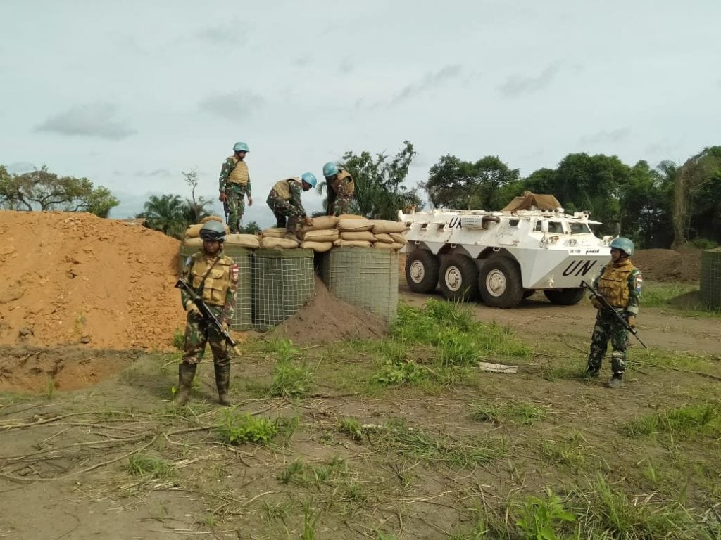 Satgas Kizi TNI Bangun TOB di Perbatasan Afrika Tengah dan Kamerun
