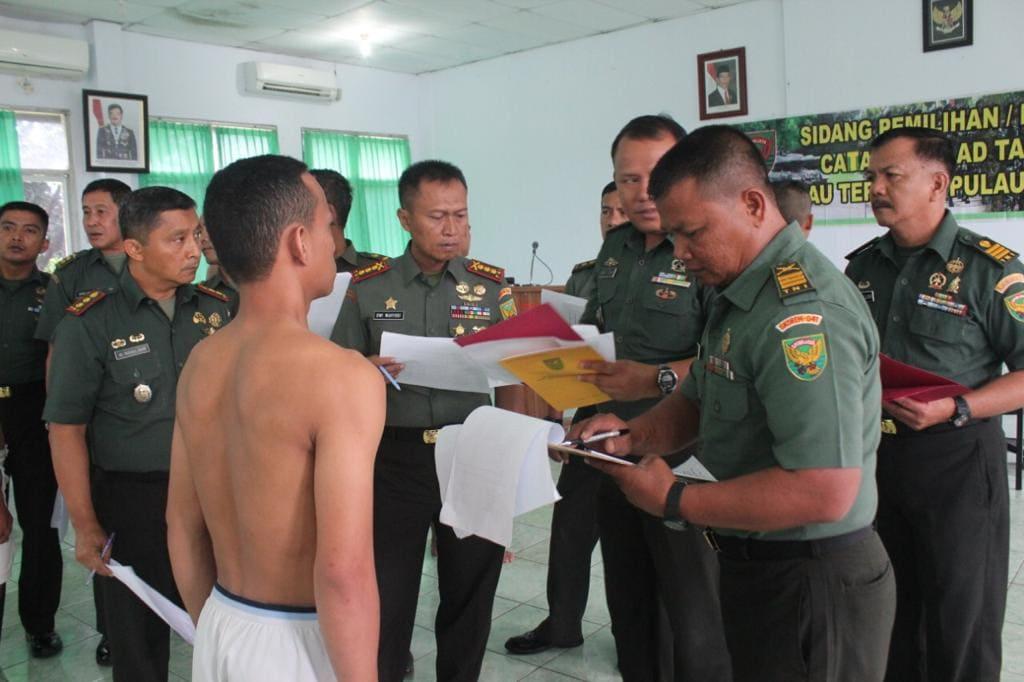 Sidang Calon Tamtama PK TNI AD Khusus Pulau Terluar Enggano