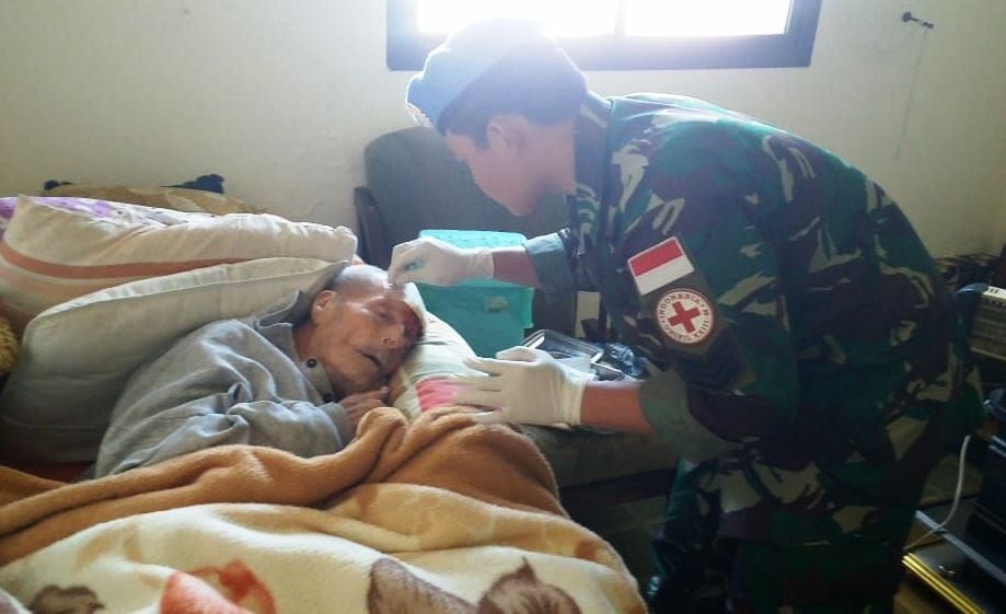 Tim Medis Satgas Yonmek TNI Konga XIII-M/UNIFIL Gelar Medical Camp
