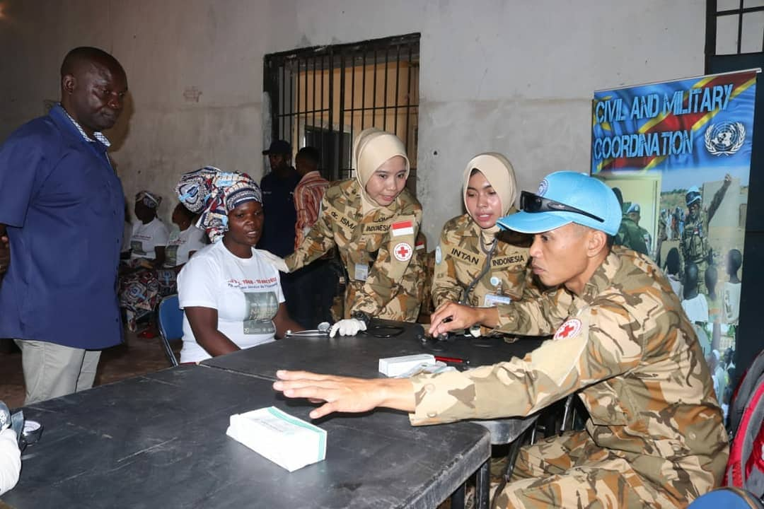 Wanita TNI Satgas Konga MONUSCO Layani Kesehatan Warga LP Kongo