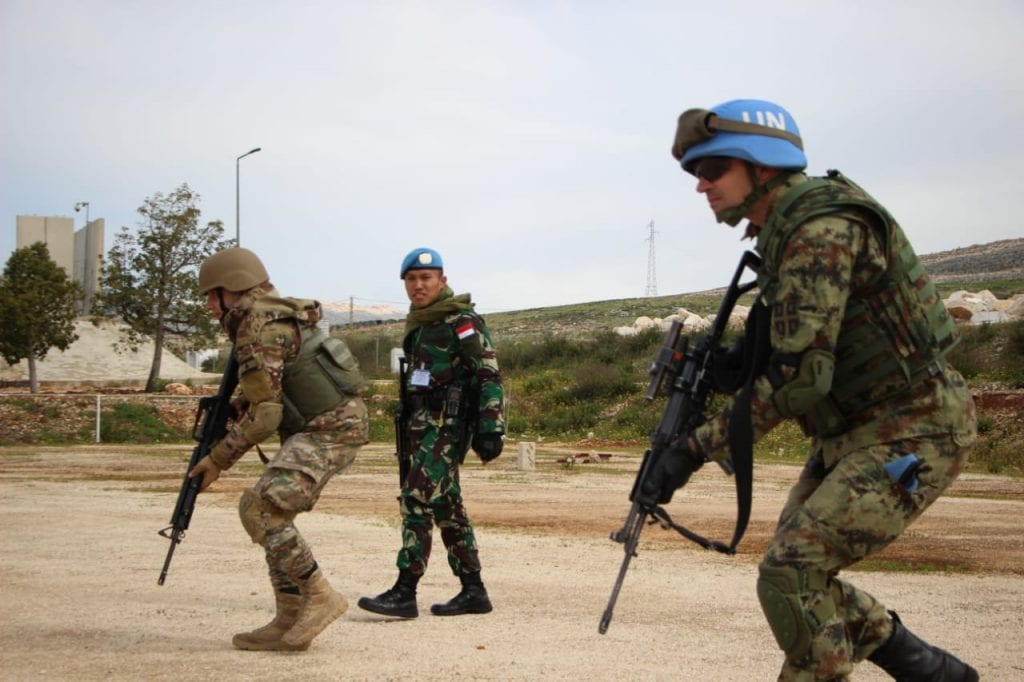 Satgas Indobatt Selenggarakan Sec East UNIFIL-LAF Urban Combat Training
