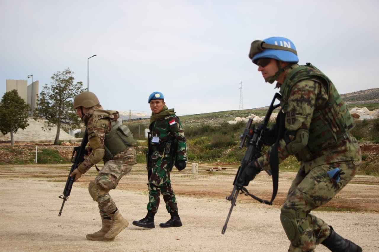 Latihan Bersama Urban Combat Training di UNP 7-2 Lebanon