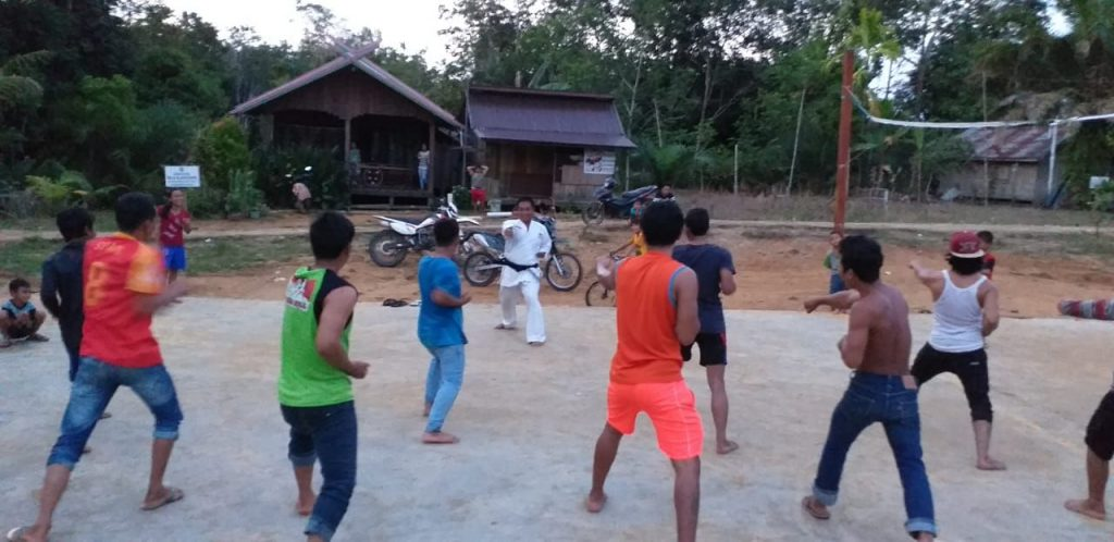 Pelatihan Bela Diri, Babinsa Bentuk Karakter Generasi Muda Wilayah Binaan