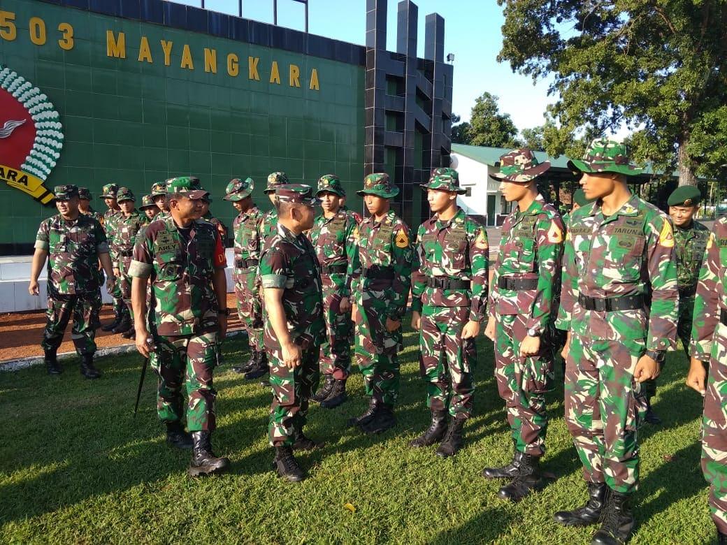 OJT Taruna Akmil Timba Pengalaman di Yonif Para Raider 503/MK