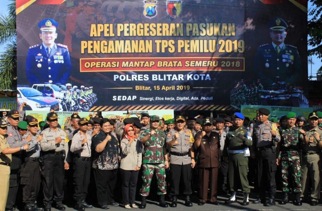 Jajaran Kodim Blitar Siap Sukseskan Pemilu 2019