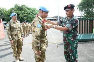 Satgas Konga TNI XXXV-D/UNAMID Kembali dari Sudan Dengan Cacatan Outstanding