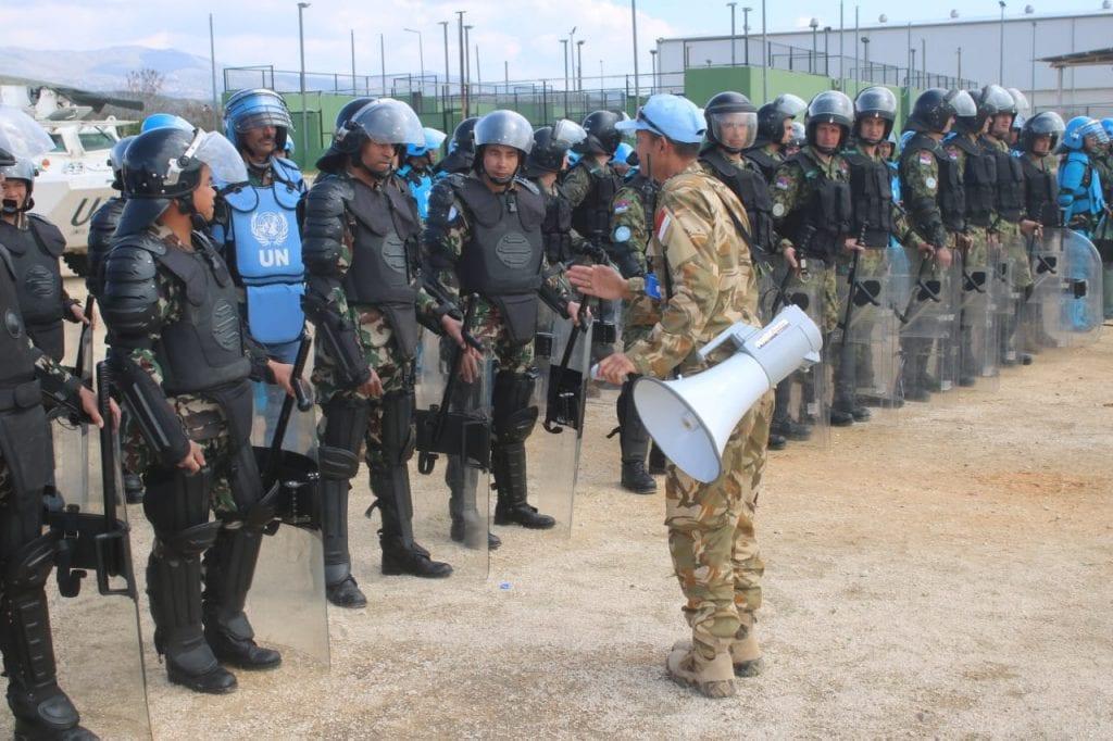 Kembali Dipercaya, MPU KONGA UNIFIL Gelar Latihan PHH di Sektor Timur