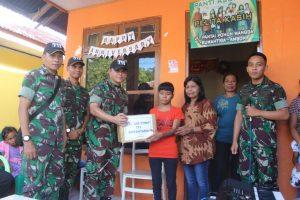 Jalin Silaturahmi, Satgas 711/Rks Berbagi Kasih di Panti Asuhan
