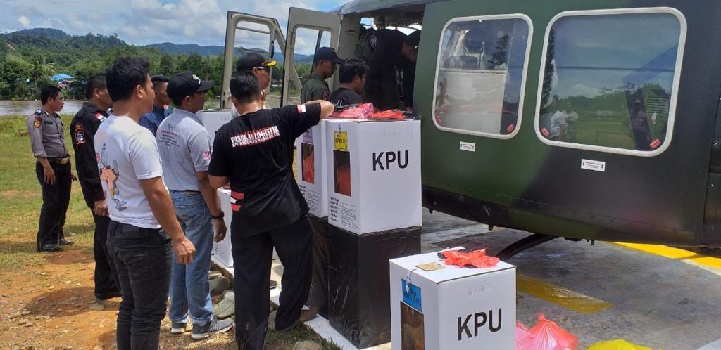 Kodam VI/Mlw Dukung Distribusi Logistik Pemilu ke Daerah Terpencil