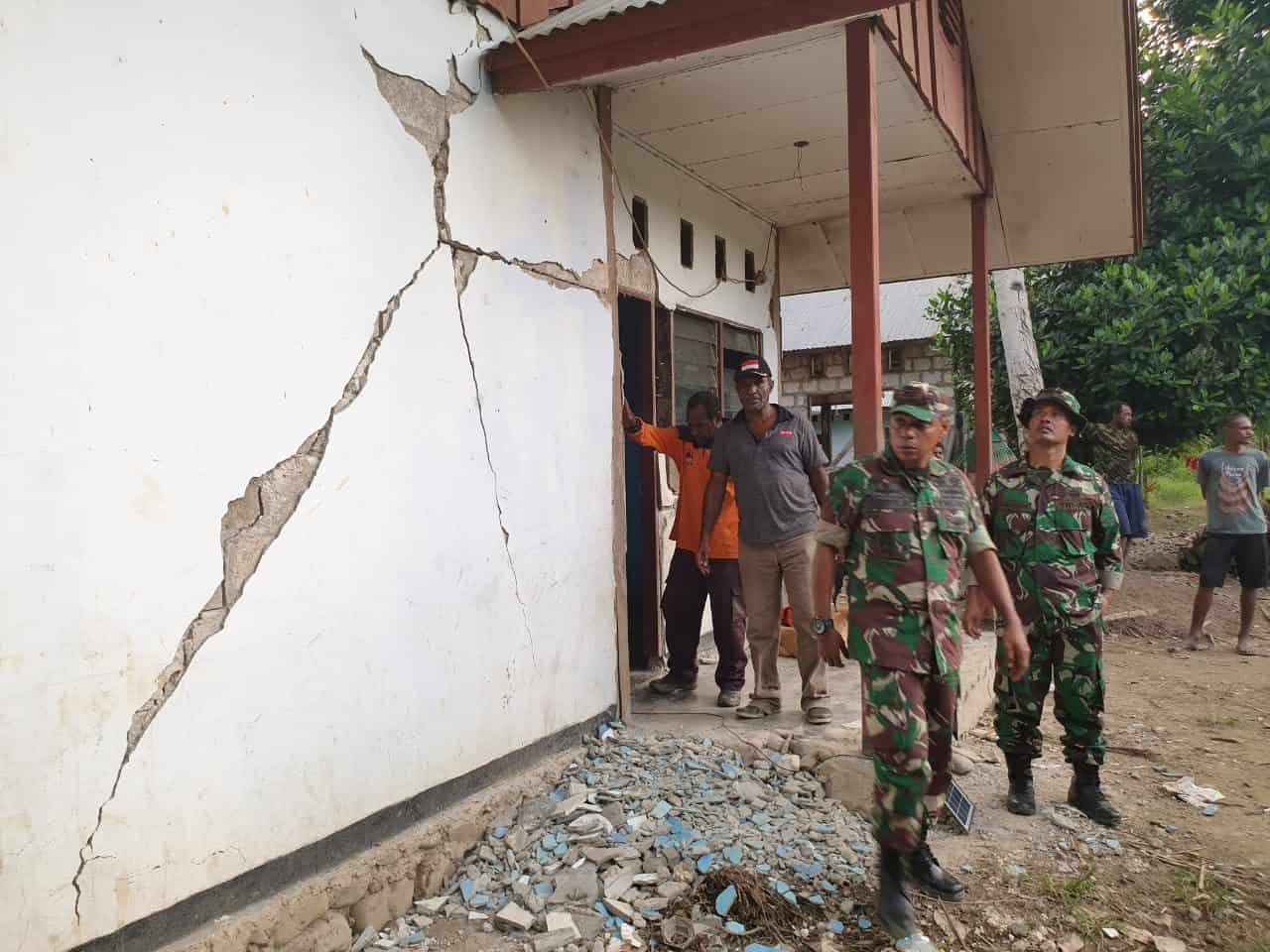 Gempa 6.3 Sr Sarmi Selatan, Kodim 1712 Kirim Bantuan Dan Tim Evakuasi