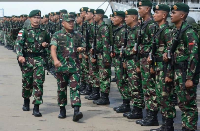 Para Prajurit Yonif Raider 303 Siap Amankan Perbatasan Ri-malaysia
