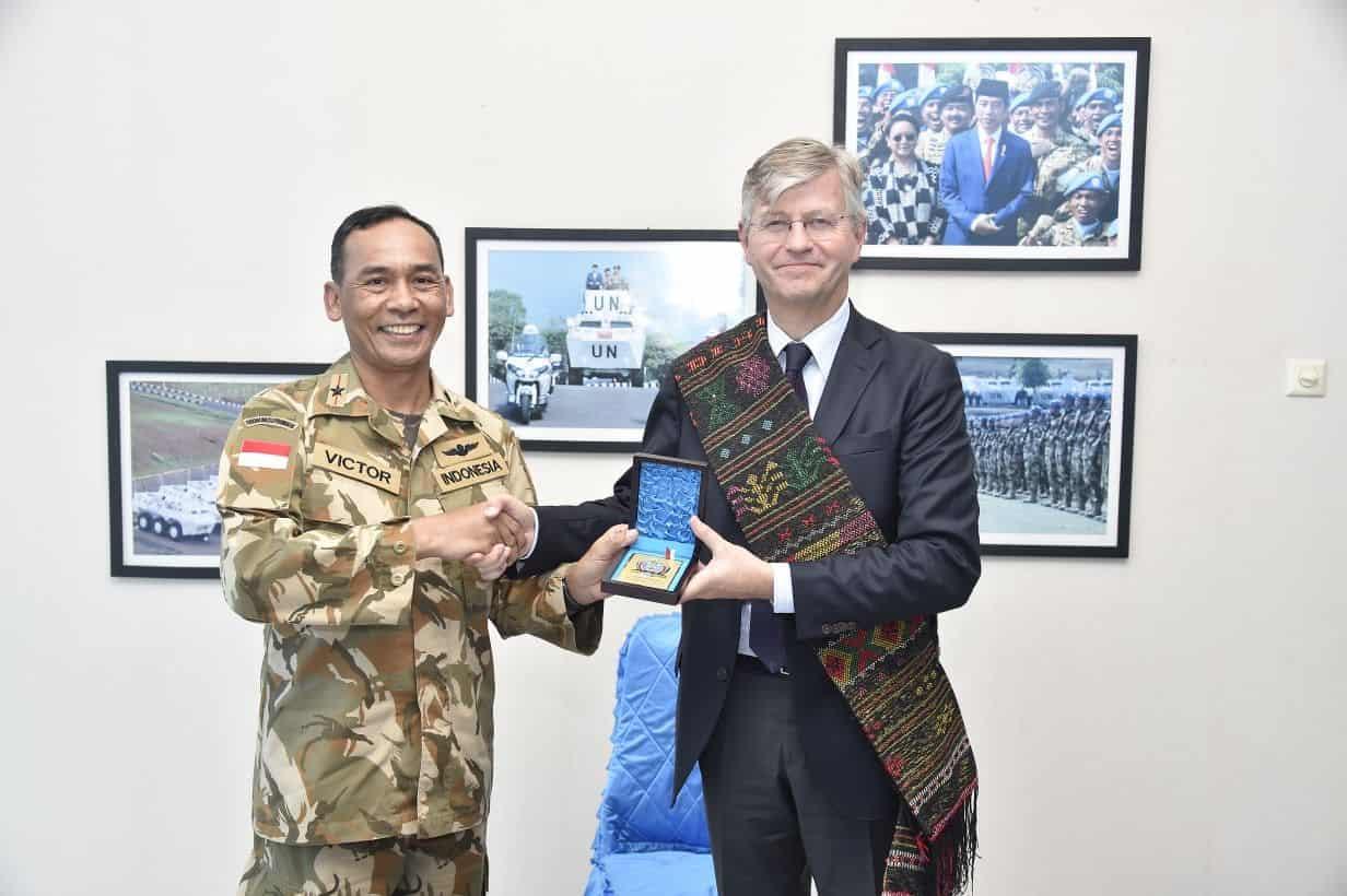 Komandan Pmpp Tni : Kunjungan Wasekjen Pbb Bukti Nyata Indonesia Aktif Jaga Perdamaian Dunia