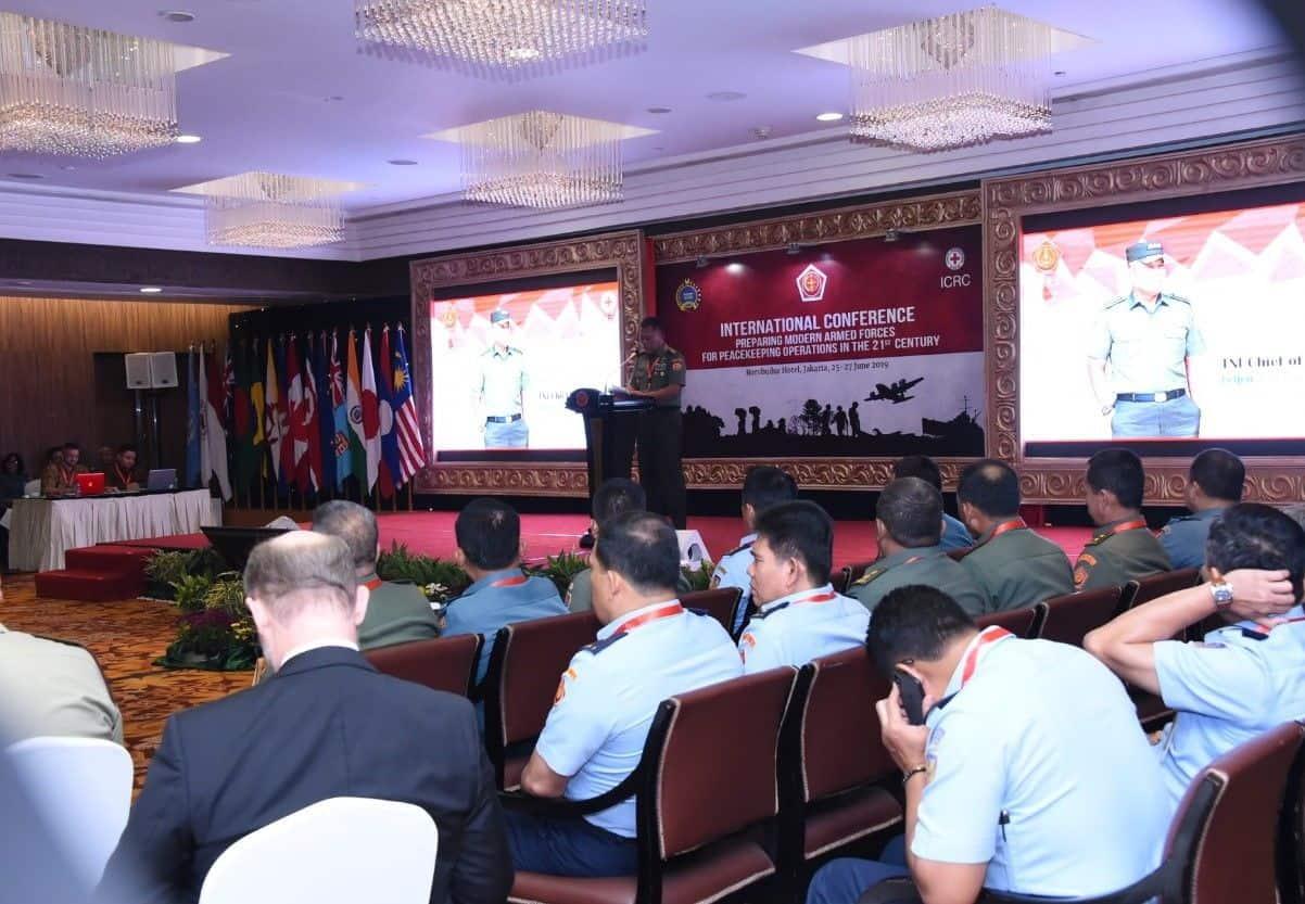 Panglima Tni : Konferensi Internasional Tni Dengan Icrc Samakan Persepsi Dan Konsepsional Tentang Peacekeeping Operation