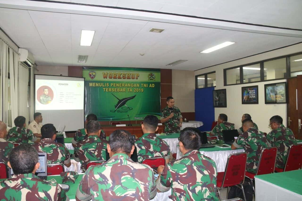 Tingkatkan Kompetensi Personel Penerangan, Dispenad Gelar Workshop Di Kodam Udayana*