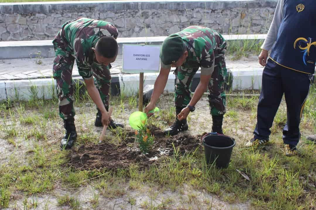 Gerakan Tanam Pohon, Yonif 631 Peduli Kelestarian Alam