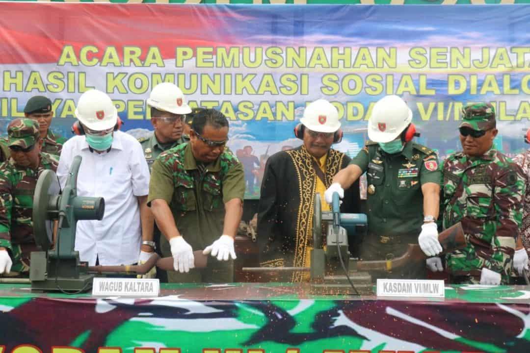 160 Senjata Hasil Satgas Operasi Di Wilayah Kaltara Dimusnahkan
