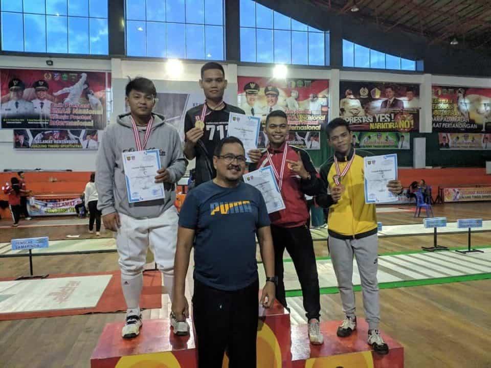 Sabet Juara 1 Anggar, Prajurit Yonif 711, Kantongi Tiket Pra-pon 2020