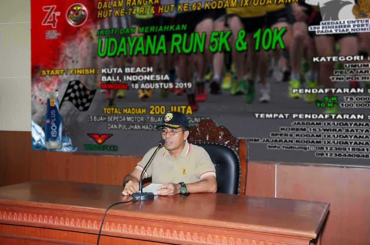 Sambut Peringatan Hut Ke-74 Ri, Kodam Ix/udayana Gelar Udayana Run 5k Dan 10k