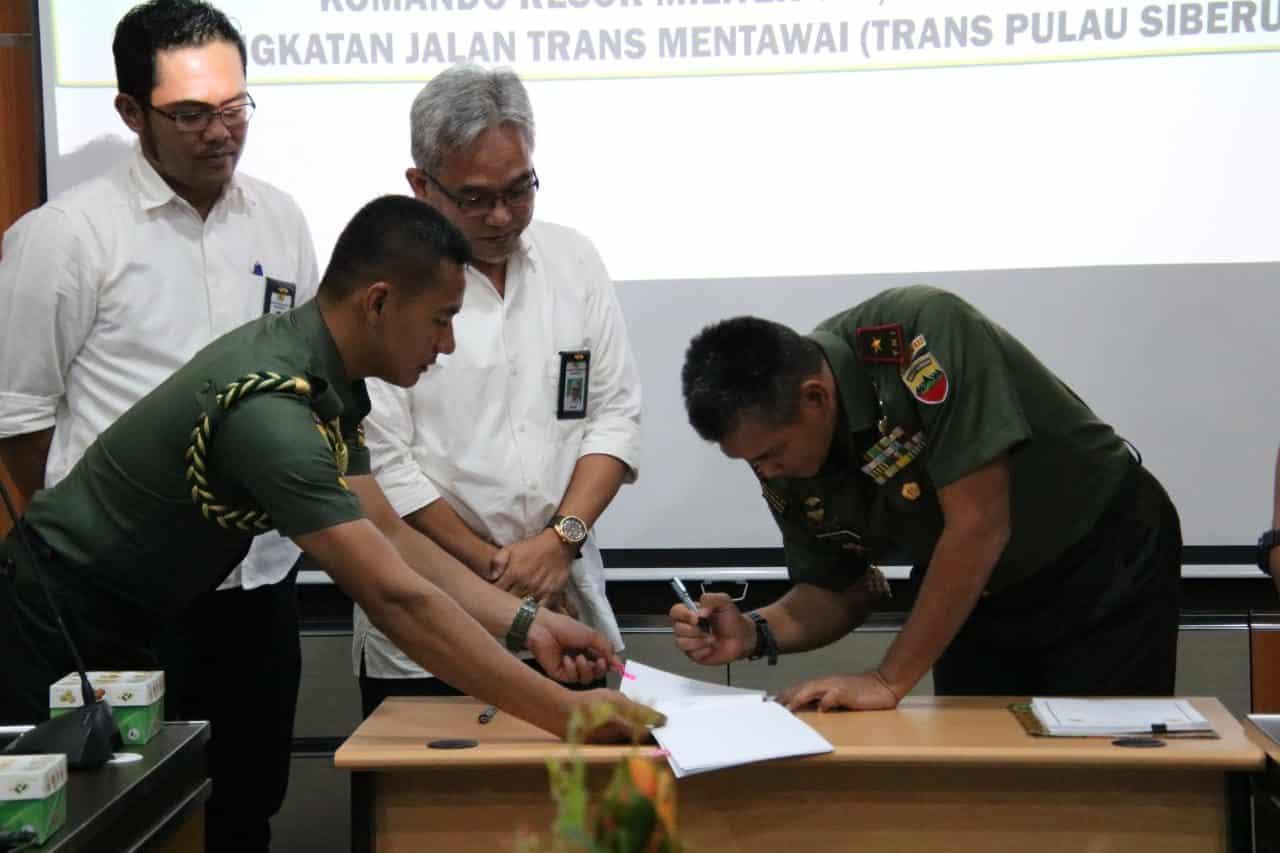 Kerjasama Kementerian Pupr Dan Korem Wirabraja Percepat Pembangunan Trans Mentawai