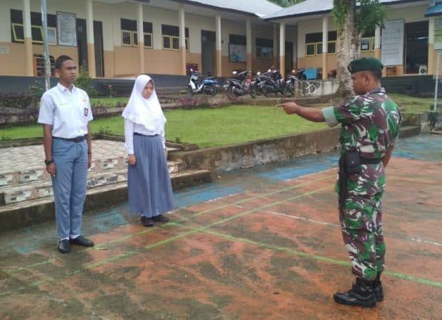 Satgas Yonif Rk 136 Hantar Putra Leihitu Jadi Paskibra Provinsi Maluku
