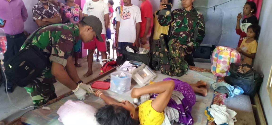 Alami Patah Tulang, Dolfina Waro Di Evakuasi Satgas Gulbencal Kodam Xvi/ptm
