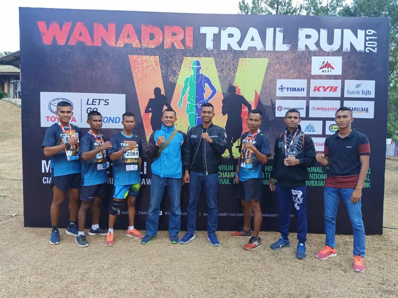 Wanadri Trail Run 2019, Tiga Prajurit Yonif 312 Sapu Bersih Juara 13 K