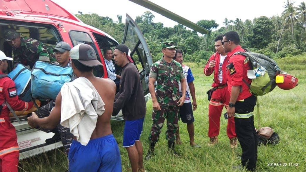 Pastikan Distribusi Logistik Dan Pengungsi, Danrem 152 Tinjua Lokasi Bencana Halmahera Selatan