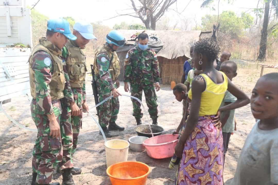Tempuh 79 Km, Satgas Indo Rdb Monusco Bantu Atasi Krisis Air Di Kongo