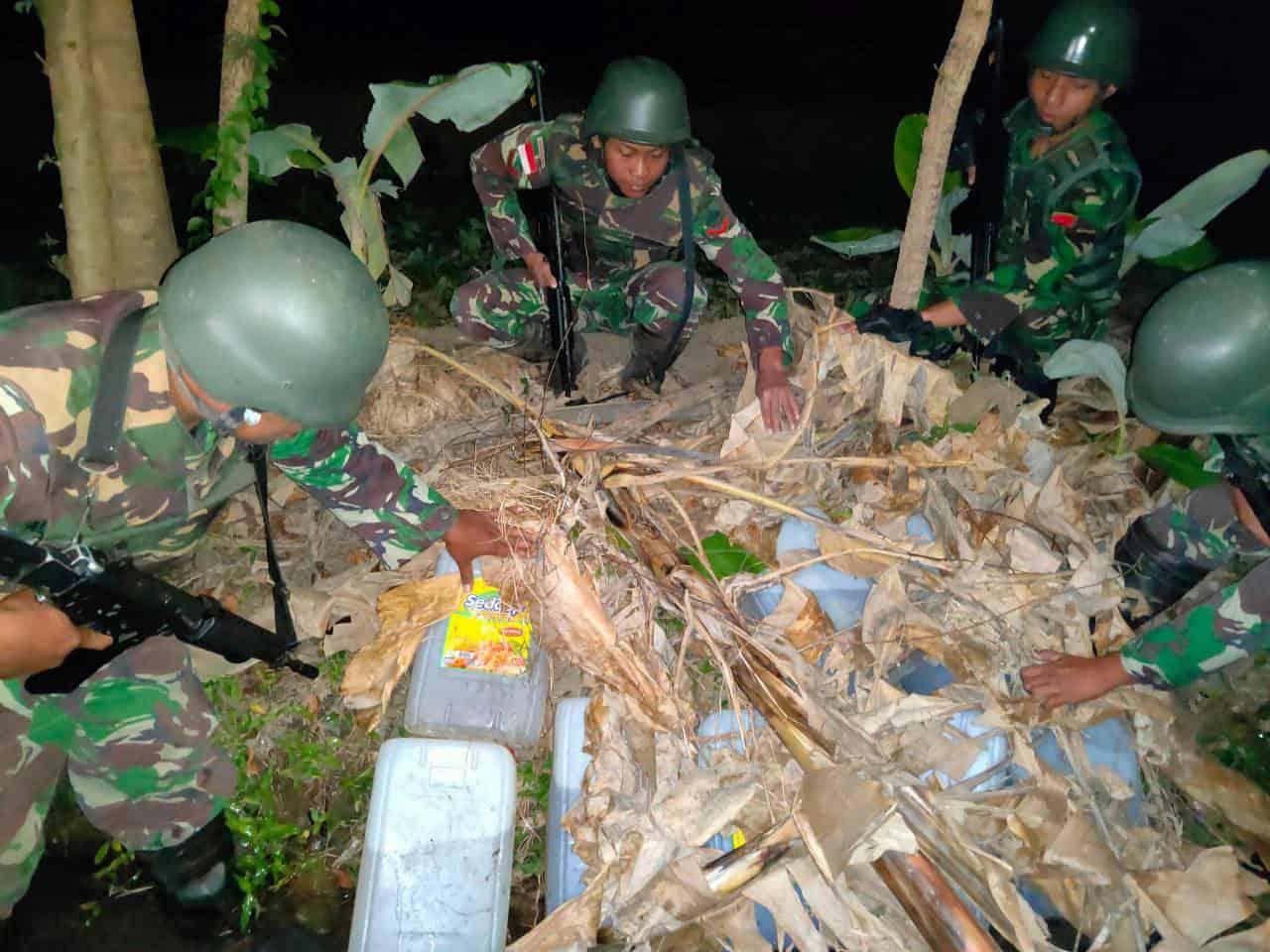 Satgas Yonif R 408 Kembali Gagalkan Penyelundupan 500 Liter Bbm Ke Timor Leste
