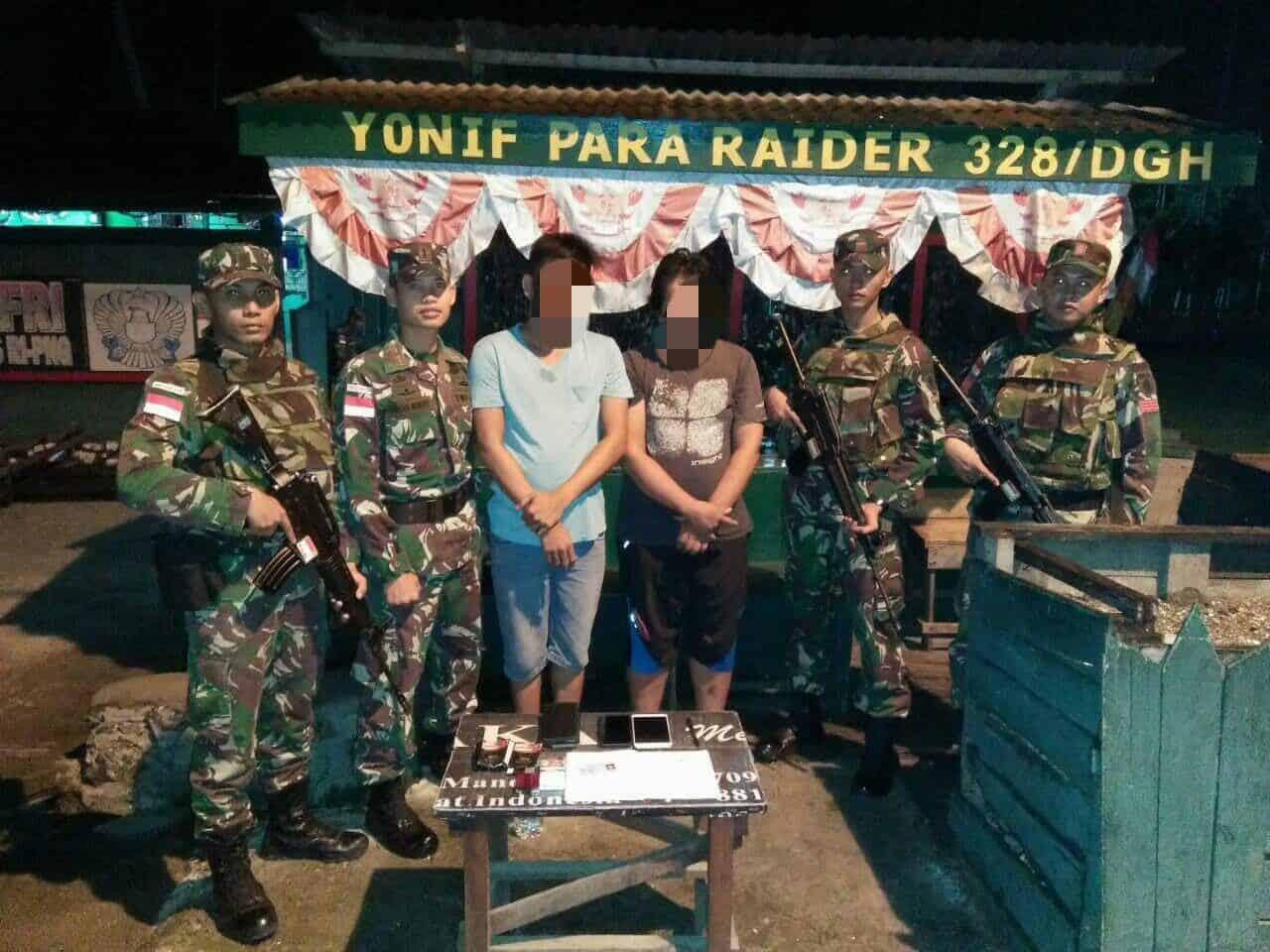 Bawa Paket Sabu, 2 Pemuda Diamankan Satgas Yonif Pr 328 Di Perbatasan Ri-png
