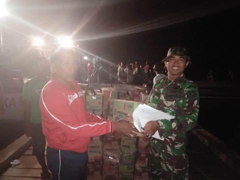 Satgas Gulben Kodam Xvi/ptm Dorong Logistik Di Pelosok Halmahera Selatan
