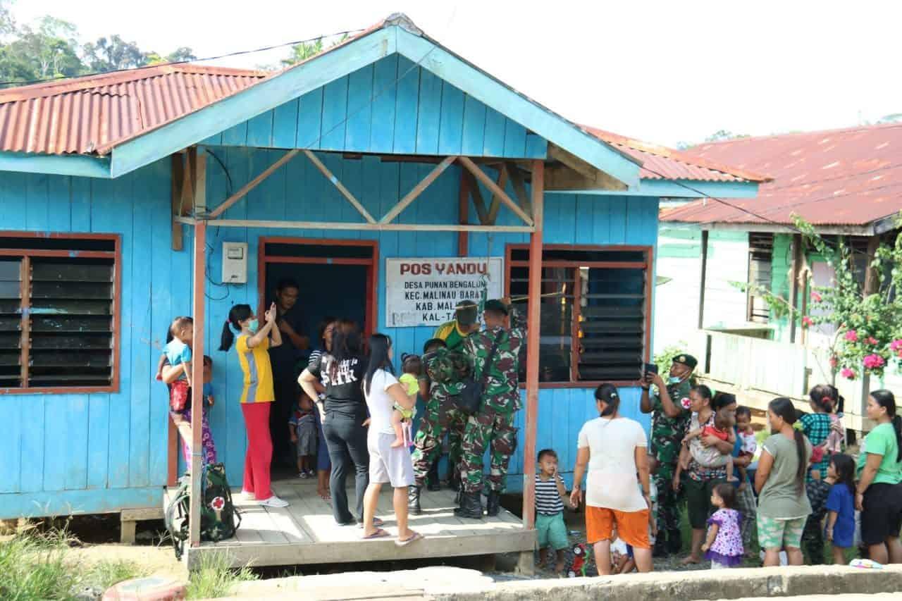 Layani Kesehatan Warga Perbatasan, Pos Satgas Yonif R 303/kostrad Buka 24 Jam