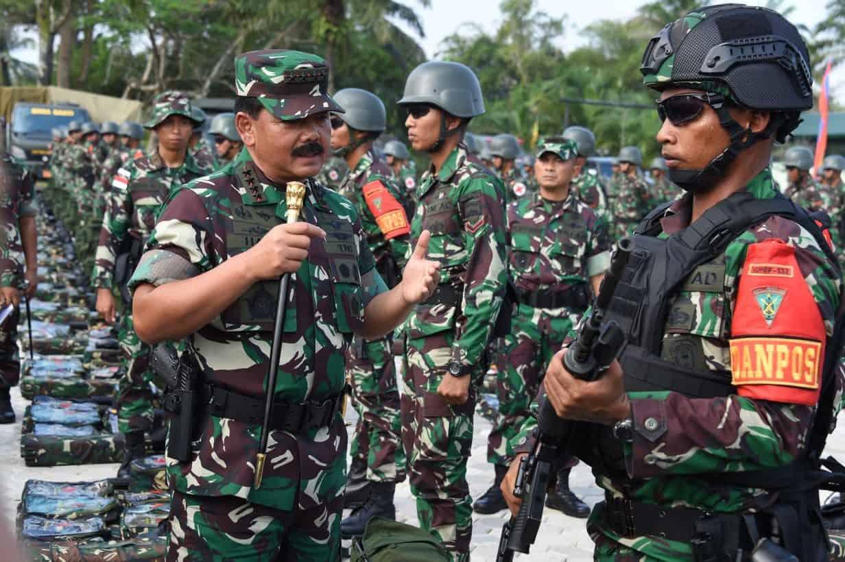 Panglima Tni : Prajurit Satgas Pamtas Harus Jaga Nama Baik Satuan