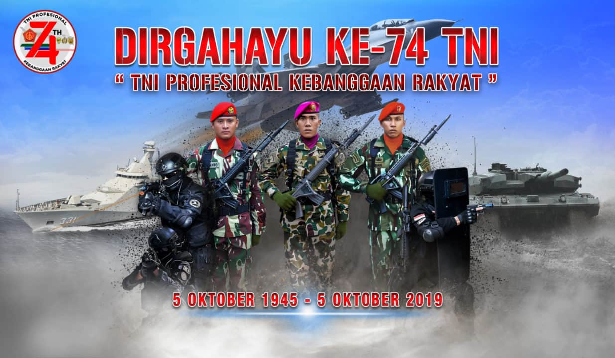 LOGO, DAN BANNER HUT TNI KE-74
