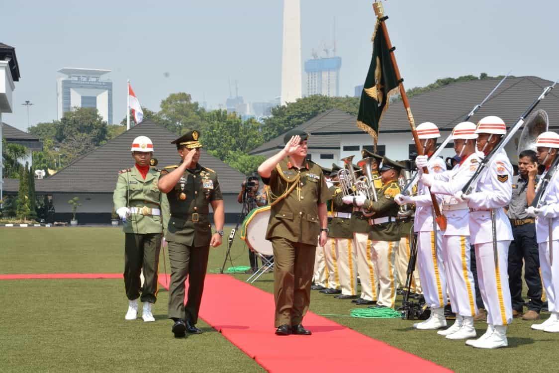 Kasad Terima Kunjungan Kehormatan New Zealand Chief of Army