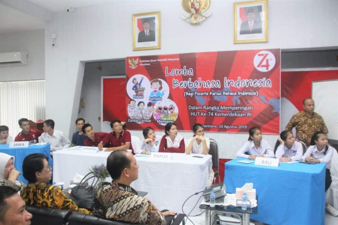 Rayakan HUT ke-74 Kemerdekaan RI, Athan dan Kedubes RI Gelar Lomba Bahasa Indonesia di Vientiane
