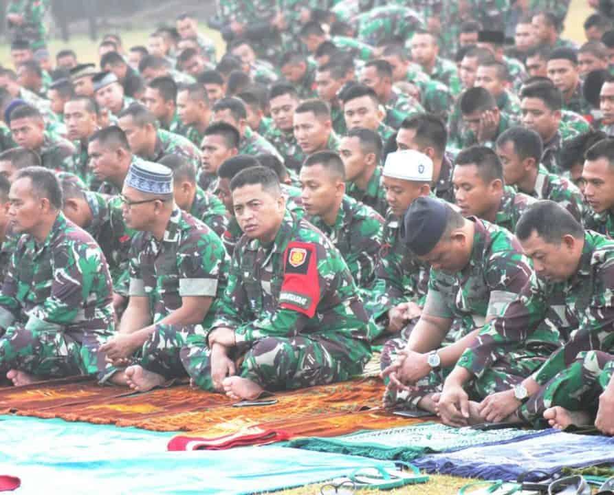 Kartika Yudha 2019, Ribuan Prajurit Kostrad Rayakan Idul Adha di Medan Latihan