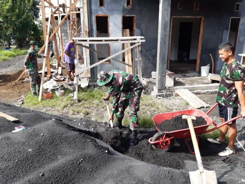 Tingkatkan Kecerdasan Spiritual, Satgas Yonif 734 Bantu Dirikan TPQ di Desa Gamsungi