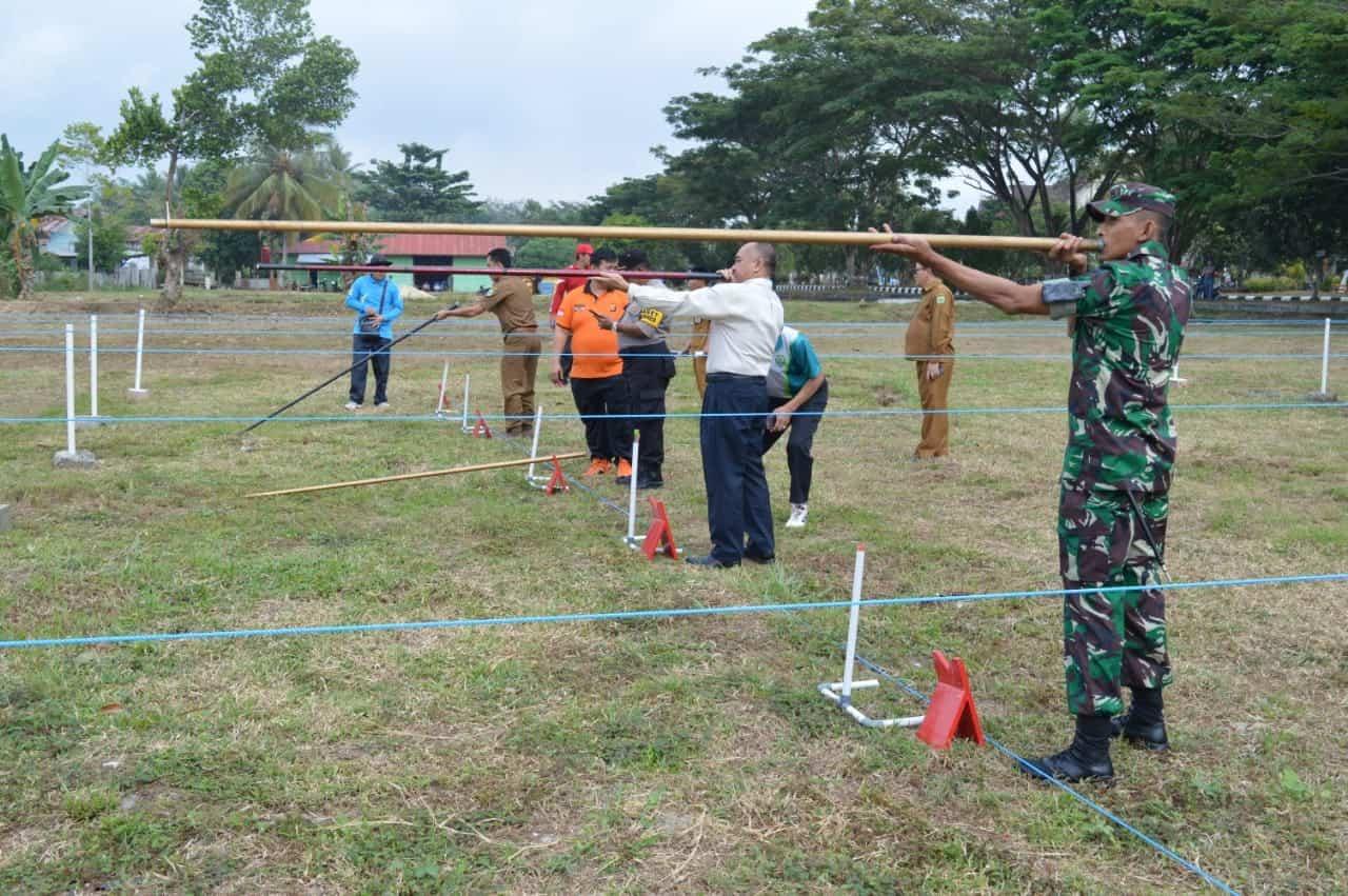 Lestarikan Olahraga Tradisional Kalimantan, Kodim 0912/Kubar Gelar Lomba Sumpit