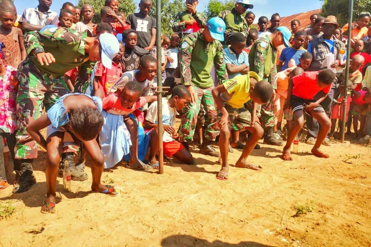 Balap Karung dan Kelereng, Pererat Silaturahmi Satgas RDB MONUSCO dan Warga Kongo